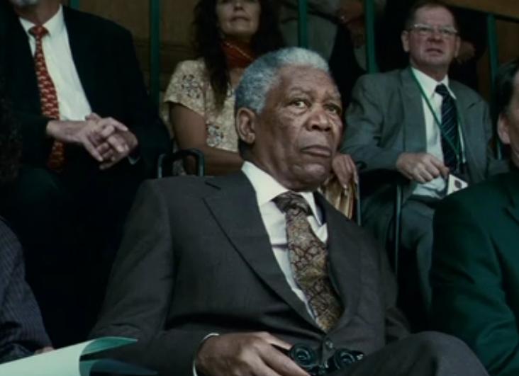 ネルソン・マンデラを演じるモーガン・フリーマン