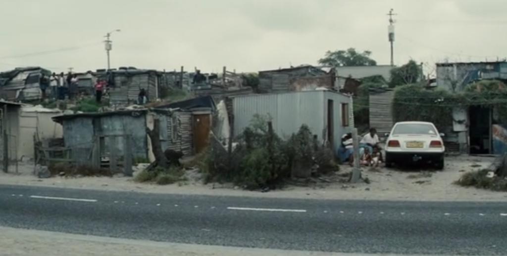 南アフリカの黒人居住地