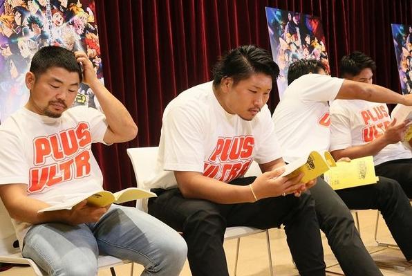 『僕のヒーローアカデミア』でアフレコに挑戦する田中史朗